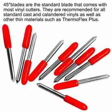 30 stücke (30/45/60 grad) AFUNTA Blade Vinyl Cutter Plotter Schneidklingen für Roland & Die meisten inländischen und importierten Plotter mit Klingenhalter Basis - 4