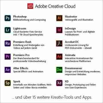 Adobe Creative Cloud All Apps | 1 Jahr | PC/Mac | Download - 2