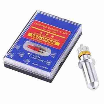 Akozon 15 stücke Tungsten Steel Plotter Cutter Klinge 30, 45, 60 Grad mit Cutter Klingenhalter für Vinyl Schneideplotter Cutter Klingen cutter 45 grad - 1