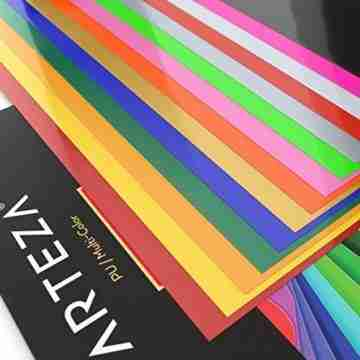 Arteza Wärmeübertragung Vinylfolie, 25.4 x 30.5cm (10 x 12 Zoll), Packung mit 14 Heat Transfer Vinylblättern, vielseitige Plotterfolie, Vinyl Papier für Hitzedruck-Transfer von Bügelbildern - 8