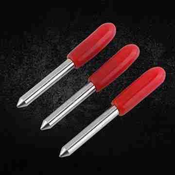Plotter Messer, 15 Stücke 45 Grad Plotter Cutter Blades Rote Kappe Hartmetall Roland GCC Vinyl Cutter Schneideplotter Klinge - 6