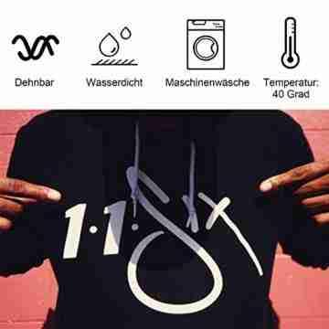 PlotterfolieTextil-25 PackHeatTransferVinyl30.5cm*25.4cm,16Farben,FlexfoliefürCricut&SilhouetteCameo,BONUSTeflonfürHeißePresseoderHaushaltseisenaufDIYT-Shirts&Stoffe - 3