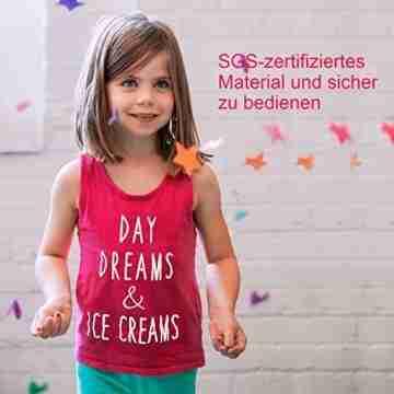 PlotterfolieTextil-25 PackHeatTransferVinyl30.5cm*25.4cm,16Farben,FlexfoliefürCricut&SilhouetteCameo,BONUSTeflonfürHeißePresseoderHaushaltseisenaufDIYT-Shirts&Stoffe - 4