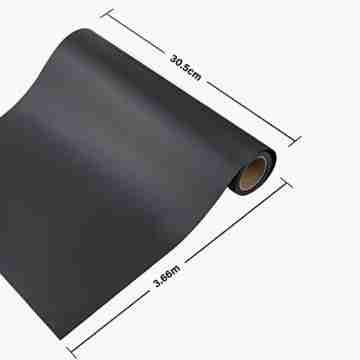 Zwanzer Flexfolie,30.5cm× 3.66m Plotterfolie Textil für Cricut und Silhouette Cameo,Verwendet in DIY-T-Shirt-Kleidung und Anderen Stoffen (Schwarz) - 2