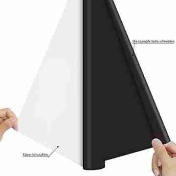 Zwanzer Flexfolie,30.5cm× 3.66m Plotterfolie Textil für Cricut und Silhouette Cameo,Verwendet in DIY-T-Shirt-Kleidung und Anderen Stoffen (Schwarz) - 3