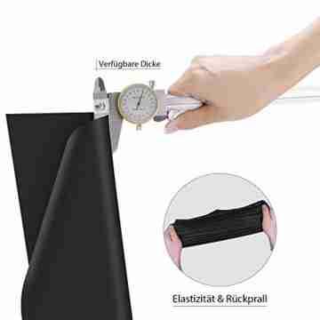 Zwanzer Flexfolie,30.5cm× 3.66m Plotterfolie Textil für Cricut und Silhouette Cameo,Verwendet in DIY-T-Shirt-Kleidung und Anderen Stoffen (Schwarz) - 4