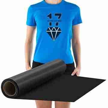 Zwanzer Flexfolie,30.5cm× 3.66m Plotterfolie Textil für Cricut und Silhouette Cameo,Verwendet in DIY-T-Shirt-Kleidung und Anderen Stoffen (Schwarz) - 7